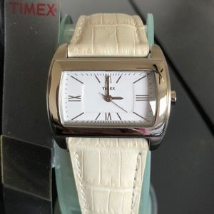 Timex ladies leather watch